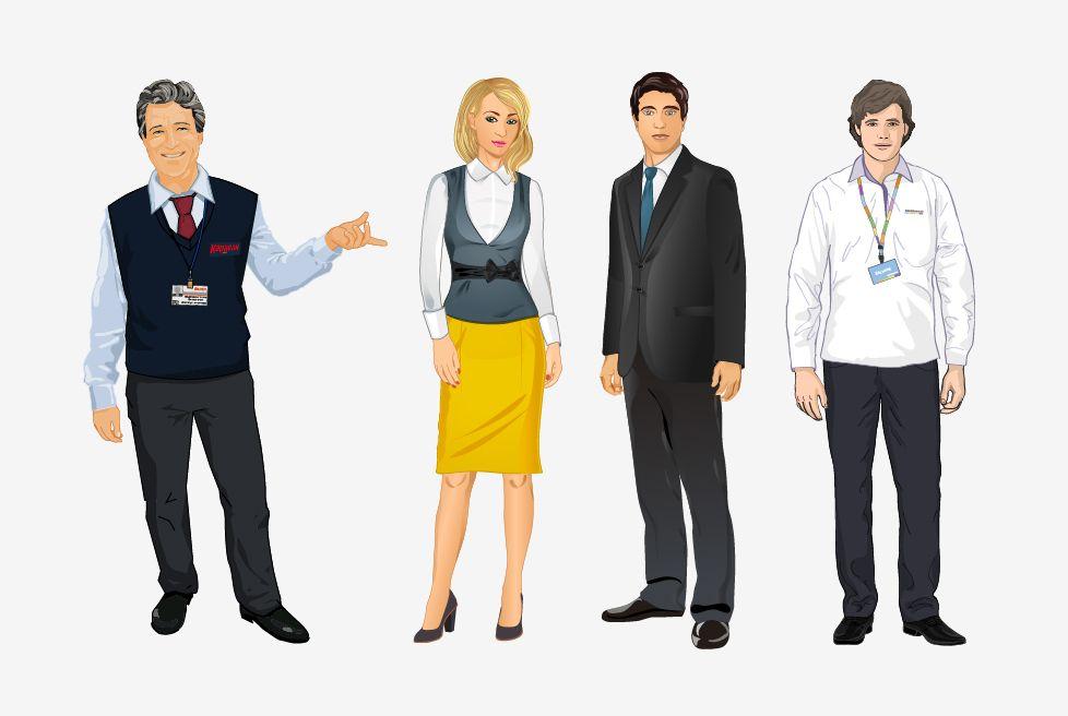 Визуальный дизайн электронных курсов векторные персонажи