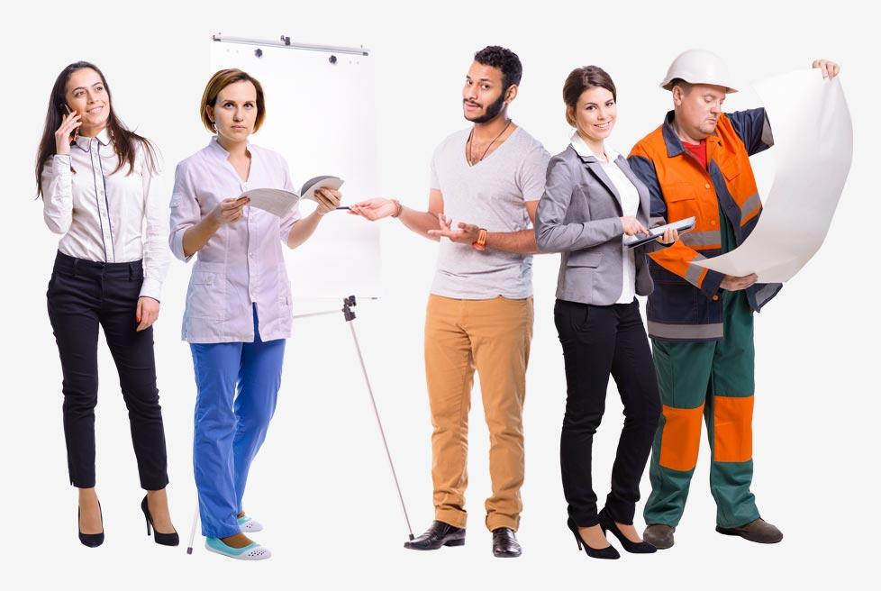 мультимедиа в курсах eLearning люди на прозрачном фоне