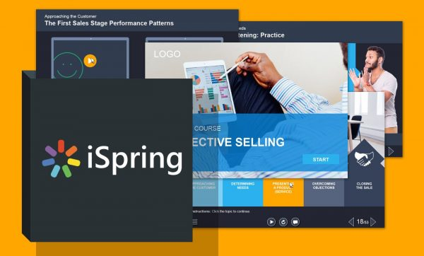 Шаблон курса по техникам продаж iSpring PowerPoint